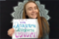 """Pictureof girl holding a sign that says """"I am a Dysautonomia and Gastroparesis Warrior!"""""""