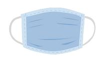 A light blue medical mask