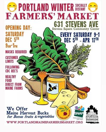 Portland Winter Farmers' Market begins Saturday, December 5th