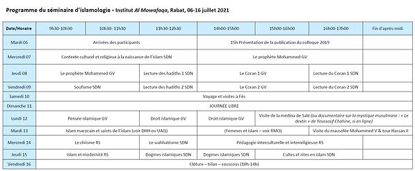 Programme séminaire d'islamologie 2021.p