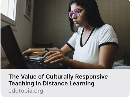 New article on culturally diverse distance learning