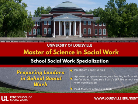 Our New Sponsorship With the University of Louisville Kent School of Social Work