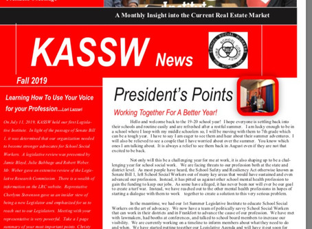 Fall 2019 Newsletter  The latest from KASSW: