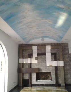 Pintura en interiores.