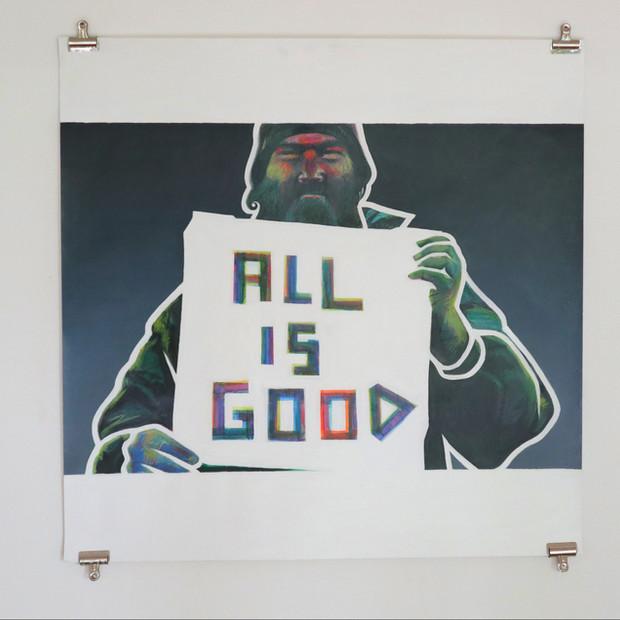Acrylic on paper, 125cm x 125cm