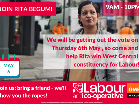 Help us Get the Vote Out on May 6th