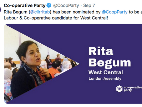Rita Receives Co-op Party Nomination For West Central