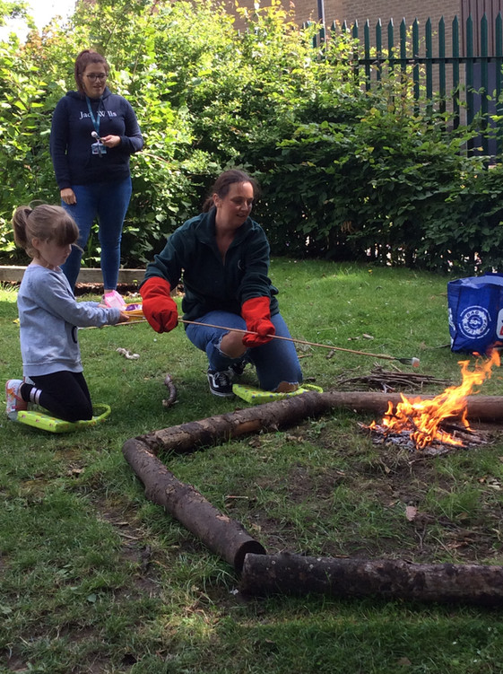 Reception go to Forest School!