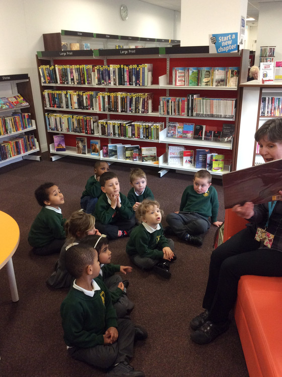 Nursery visit to the Library