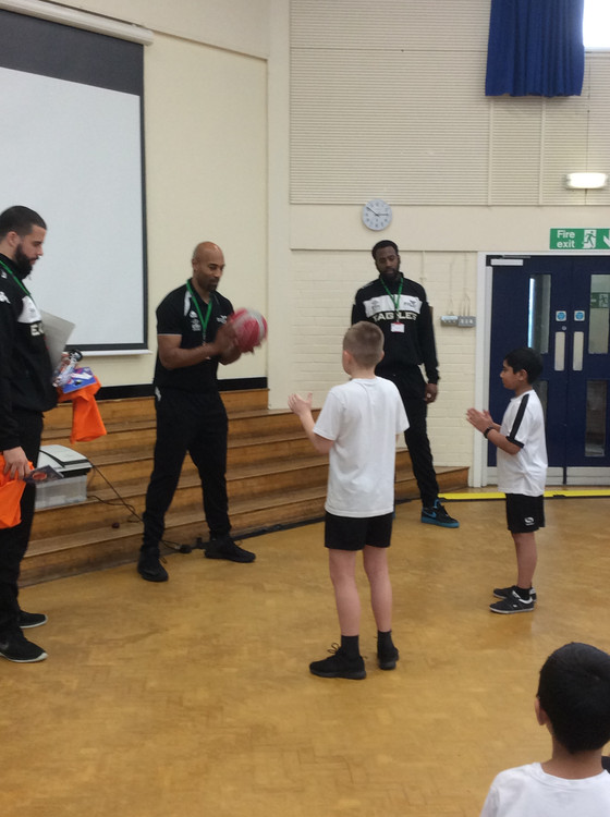 Training session from the Newcastle Eagles!