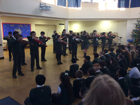 Year 4 and 5 violin concert