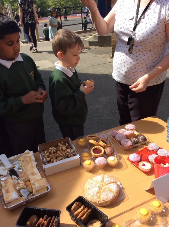 Raising money for charity in Y4!