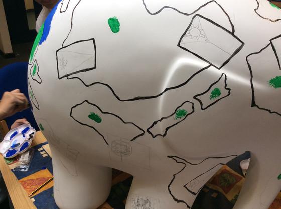 Decorating Elmer!