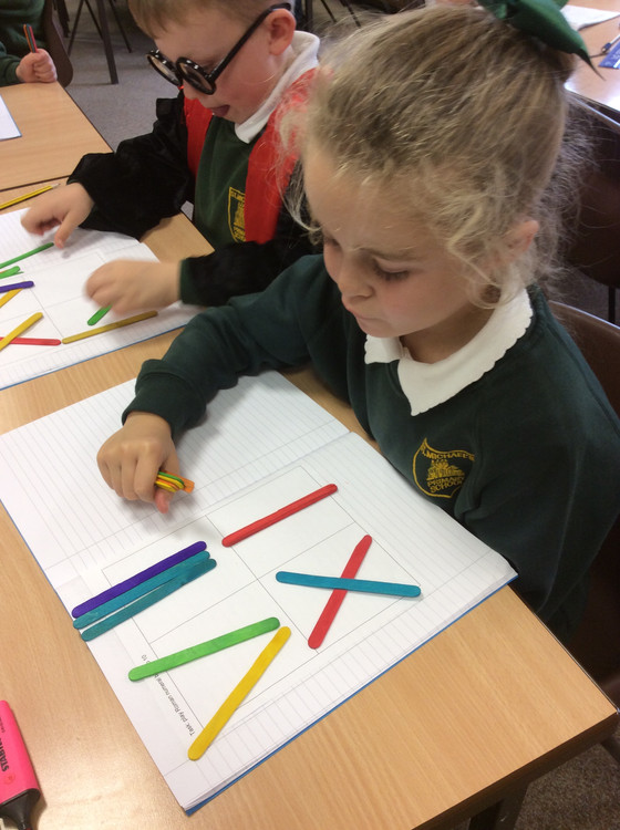 Roman Numeral fun with lolly sticks!