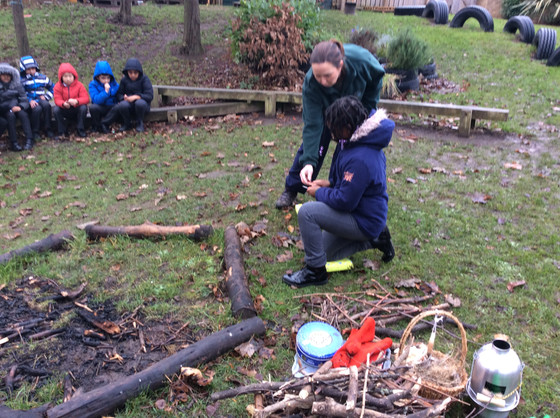 Y4 go to Forest School