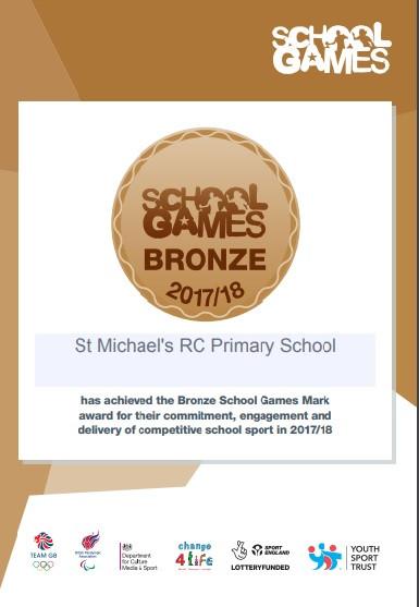Bronze School Games Award!