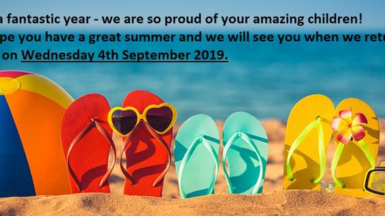 Have a fantastic summer!