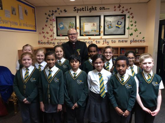 Bishop Robert visits our school