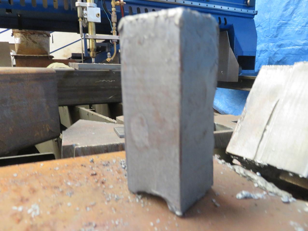 100mm gas cut steel.JPG