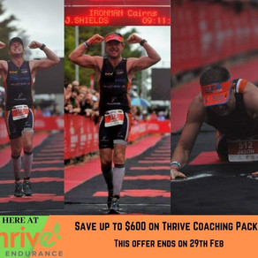 Thriving Race Results and Thrive team IM Cairns promotion