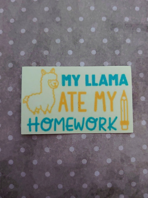 A Llama ate my homework Sticker