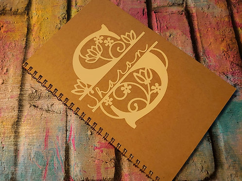 Custom Initial/ name A5 notebook