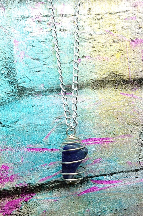 Bead/Stone caged necklace