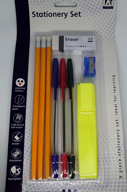 9pc Stationery set
