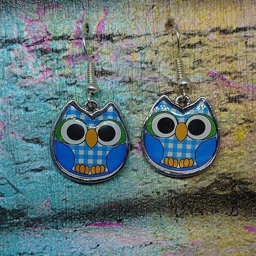 Cute Owl Dangle Earrings