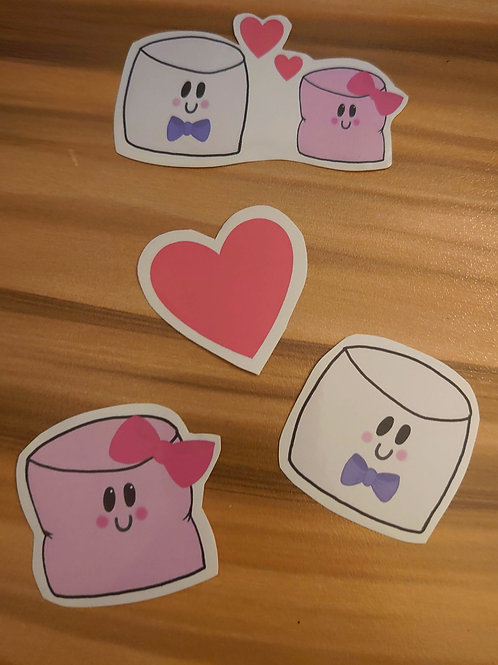 Marshall & Martha -  Marshmallow sticker pack