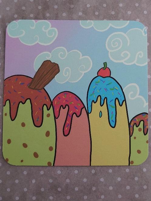 Ice cream Mountain art print