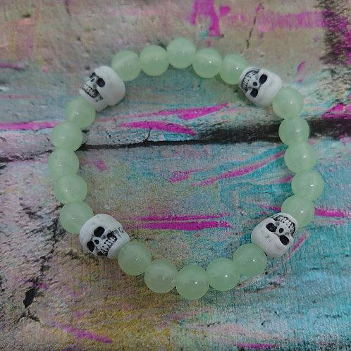 Glow in the dark skull bracelet