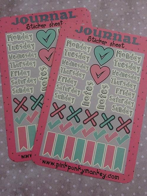 Journal Sticker sheet