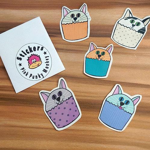 Cat Cakes sticker pack