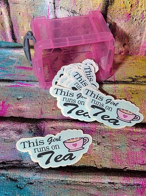 This girl runs on TEA Sticker