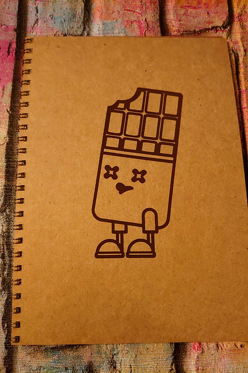 A5 notebook -Chocolate character design