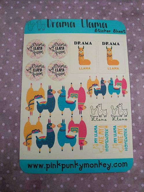 Drama Llama  Sticker sheet