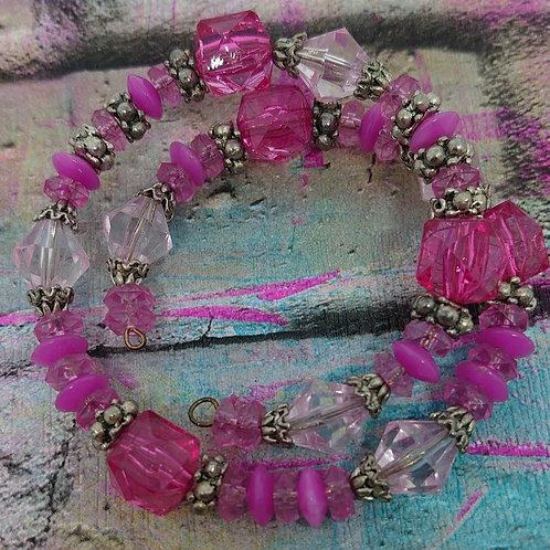 Gorgeous beaded memory wire bracelet