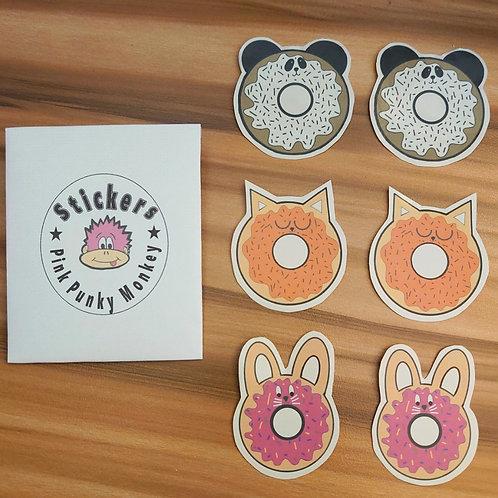 Donut Animals sticker pack