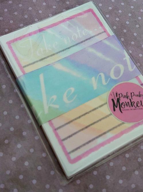 Rainbow - take not mini note pad