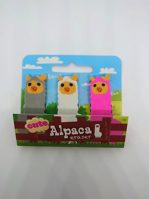 Alpaca Eraser - 3pk