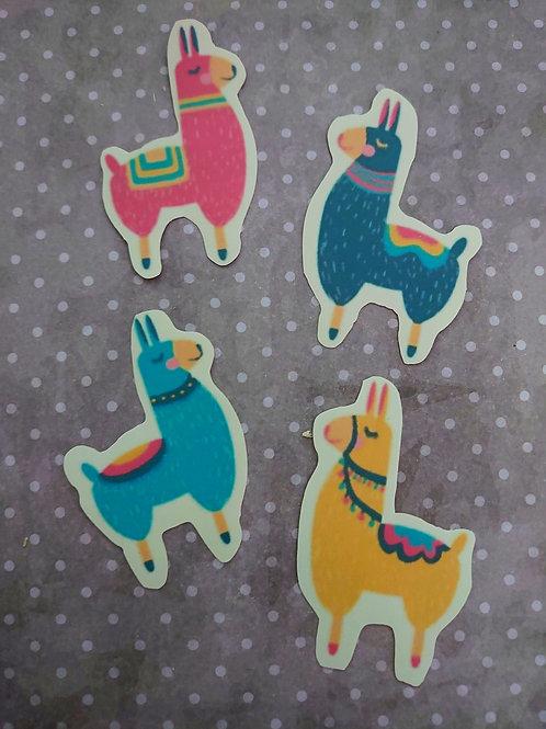 Llama Stickers 4pk