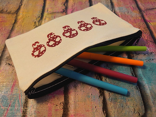 Canvas Pencil case/Make up bag