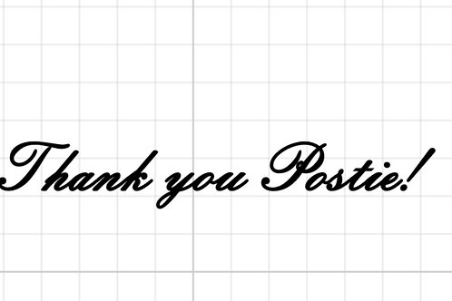 Thank you postie! Letterbox decal