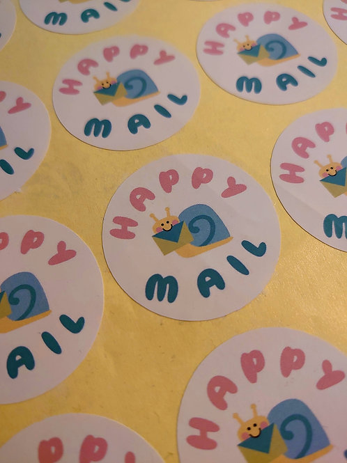 Happy mail 1.5 inch stickers