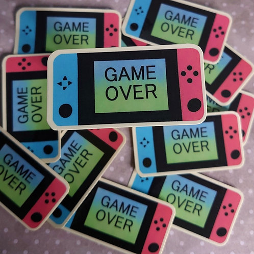 Game over sticker - laminated