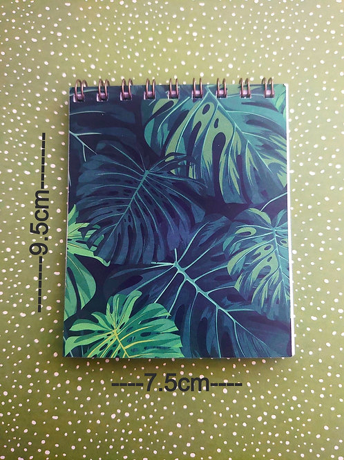 flip Notebook  - Tropical Leaf