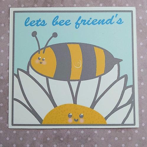 lets bee friends art print