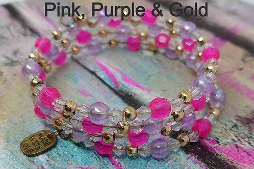 Pretty memory wire bracelets