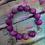 Thumbnail: Magenta bead and owl Bracelet